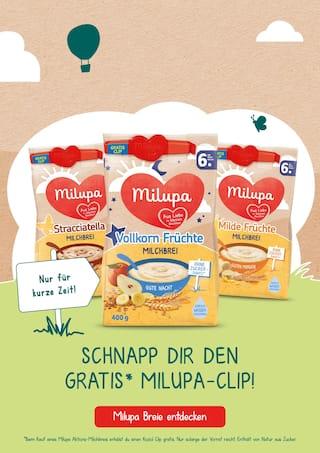 Aktueller Milupa Prospekt, Schnapp dir den Gratis* Milupa-Clip!, Seite 1