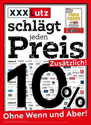 Aktueller XXXLutz Möbelhäuser Prospekt, XXXLutz schlägt jeden Preis, Seite 1