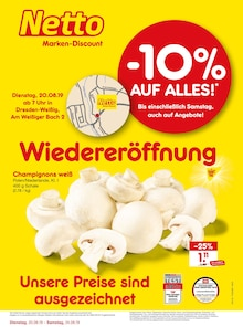 Netto Marken-Discount, WIEDERERÖFFNUNG - 10% AUF ALLES für Dresden