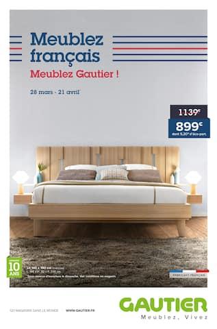 Catalogue Gautier en cours, Meublez français, meublez Gautier !, Page 1