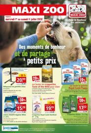 Catalogue Maxi Zoo en cours, Des moments de bonheur et de partage à petits prix, Page 1