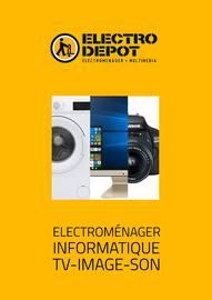 Catalogue Electro Dépot en cours, Electroménager, Informatique, TV-Image-Son, Page 1