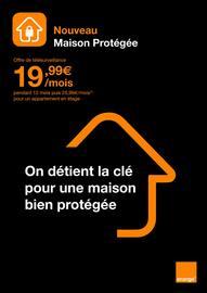 Catalogue Orange en cours, Nouveau - Maison Protégée, Page 1