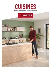 Catalogue Lapeyre en cours, Cuisines, meubles, plans de travail, éviers & robinetterie, Page 1