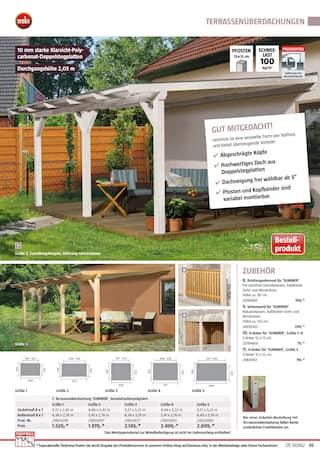 Aktueller BAUHAUS Prospekt, Gartenhäuser/Carports, Seite 95