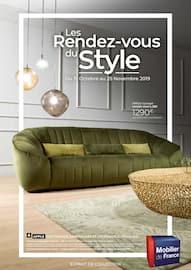 Catalogue Mobilier de France en cours, Les rendez-vous du style, Page 1
