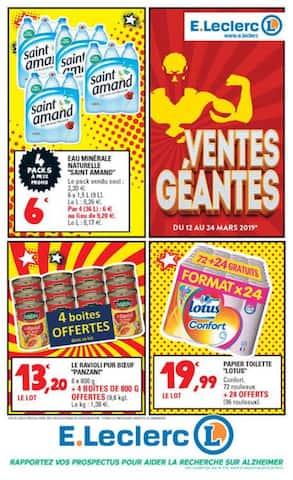 Catalogue E.Leclerc en cours, Ventes géantes, Page 1