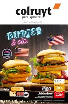 """Colruyt Catalogue """"Burger & cie"""", 12 pages, Vermondans,  26/10/2021 - 31/10/2021"""