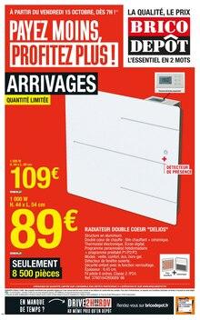 """Brico Dépôt Catalogue """"Payez moins, profitez plus !"""", 24 pages, Aubervilliers,  14/10/2021 - 28/10/2021"""