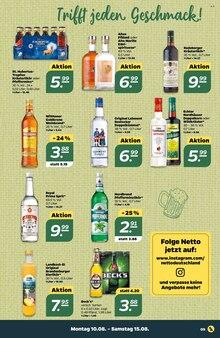 Alkoholische Getraenke im Netto mit dem Scottie Prospekt Stars der Woche auf S. 8