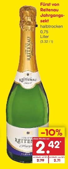 Sekt von Fürst von Reitenau im aktuellen Netto Marken-Discount Prospekt für 2.42€