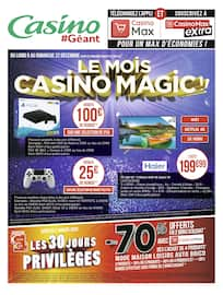 Catalogue Géant Casino en cours, Le mois Casino magic !!, Page 80