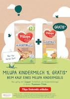 Aktueller Milupa Prospekt, Milupa Kindermilch und Kindermüsli, Seite 1