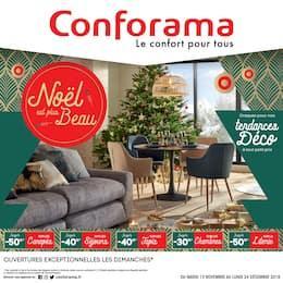 Catalogue Conforama en cours, Noël est plus Beau, Page 1