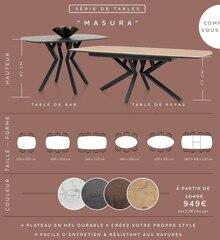 """Serie de tables """"Masura"""" à Xooon dans Flaine"""