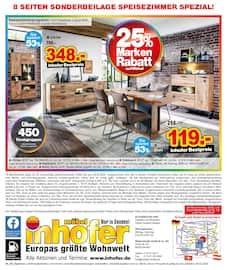 Aktueller Möbel Inhofer Prospekt, Speisezimmer SPEZIAL, Seite 8
