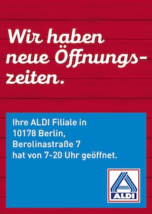 ALDI Nord - Neue Öffnungszeiten