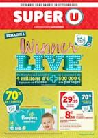 Catalogue Super U en cours, Winner live, Page 1