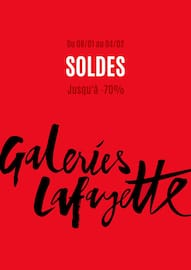 Catalogue Galeries Lafayette en cours, Soldes, Page 1