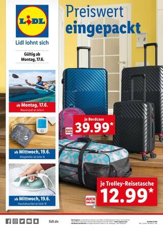 Aktueller Lidl Prospekt, Preiswert eingepackt, Seite 1
