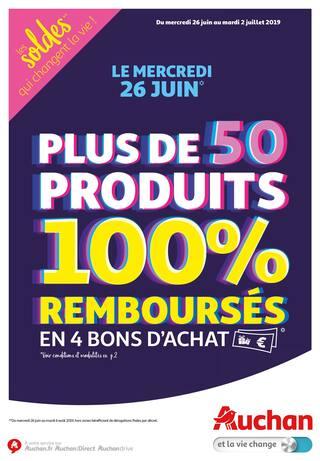 Catalogue Auchan en cours, Les soldes qui changent la vie !, Page 1