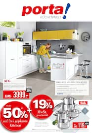Aktueller porta Möbel Prospekt, porta! Küchenwelt , Seite 1