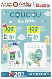 Catalogue Casino Supermarchés en cours, Coucou les bébés, Page 1