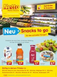 Aktueller Netto Marken-Discount Prospekt, NEU - Snacks to go - Für den schnellen Hunger!, Seite 1