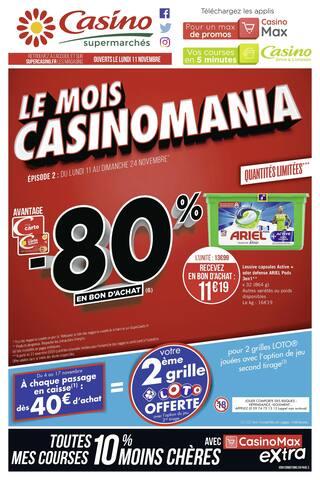 Catalogue Casino Supermarchés en cours, Le mois Casinomania, Page 1