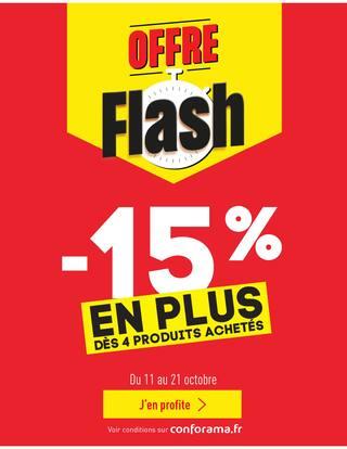 Catalogue Conforama en cours, -15% de remise supplémentaire dès 4 produits achetés, Page 1