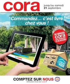 Catalogue Cora en cours, Commandez... c'est livré chez vous ! , Page 1