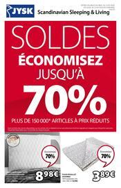 Catalogue Jysk en cours, Soldes, économisez jusqu'à 70%, Page 1