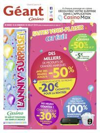 Catalogue Géant Casino en cours, Faites vous-plaisir cet été !, Page 1
