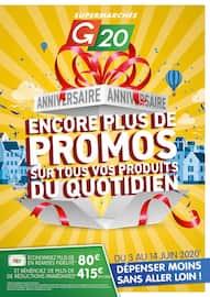Catalogue G20 en cours, Encore plus de promos sur tous vos produits du quotidien, Page 1