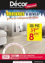 Catalogue Décor Discount en cours, Arrivage d'hiver pour un intérieur douillet, Page 1