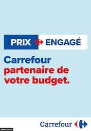 Catalogue Carrefour en cours, Prix engagé : Carrefour, partenaire de votre budget, Page 1