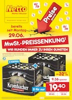 Aktueller Netto Marken-Discount Prospekt, MwSt.-PREISSENKUNG - WIR RUNDEN IMMER ZU IHREN GUNSTEN, Seite 1
