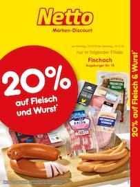 Aktueller Netto Marken-Discount Prospekt, 20% auf Fleisch & Wurst, Seite 1