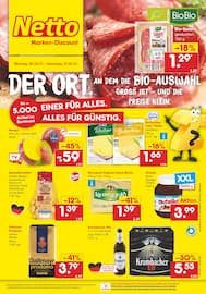 Aktueller Netto Marken-Discount Prospekt, DER ORT, AN DEM DIE BIO-AUSWAHL GROSS IST - UND DIE PREISE KLEIN., Seite 1