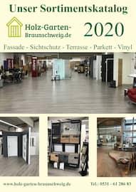Aktueller Holz Garten Braunschweig Prospekt, Unser Katalog für Fassade - Sichtschutz -Terrasse, Parkett- und Vinylboden, Seite 1