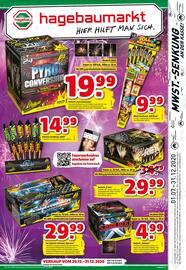 Aktueller hagebaumarkt Prospekt, Feuerwerk, Seite 1