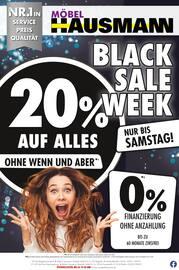 Aktueller Möbel Hausmann Prospekt, Black Sale Week, Seite 1