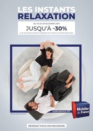 Catalogue Mobilier de France en cours, Les instants relaxation, Page 1