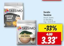 Kaffee von Jacobs Tassimo im aktuellen Lidl Prospekt für 3.33€