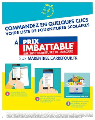 Catalogue Carrefour en cours, Le meilleur de la rentrée à prix imbattable, Page 2