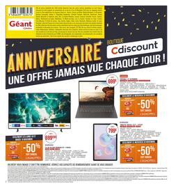 Catalogue Géant Casino en cours, Anniversaire Cdiscount, Page 2