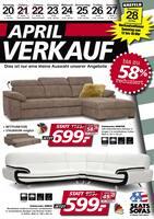 Aktueller Seats and Sofas Prospekt, April-Verkauf!, Seite 1