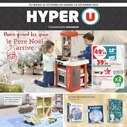 Catalogue Hyper U en cours, Ouvre grand les yeux le Père Noël arrive, Page 1