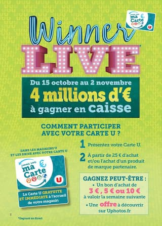 Catalogue Hyper U en cours, Winner live, Page 2