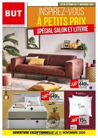 Catalogue But en cours, Inspirez-vous à petits prix : spécial salon et literie, Page 1